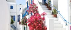 Looks like it came straight off a picture postcard: Mykonos Mykonos Villas, Mykonos Hotels, Mykonos Town, Mykonos Greece, Bedroom Tv Wall, Mykonos Island, House Stairs, Picture Postcards, Luxury Holidays