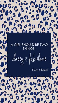 Chanel quote Fabulous leopard print lockscreen wallpaper background