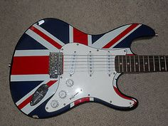 #Electric guitar #union jack excellent #condition., View more on the LINK: http://www.zeppy.io/product/gb/2/191943816706/