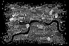 The literary map of London is just beautiful. More than 250 novels were mined in order to make the Literary London Map, taken from the Literary London Art Collection. It was created by graphic artist Dex in collaboration with interior designer Anna Burles Central London Map, Visual Thinking, Bob Books, Read Books, I Love Books, Plans, Book Lovers, Book Worms, Book Art