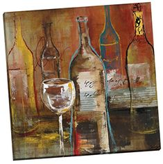Portfolio Canvas Decor Wine Cellar II by Bridges WrappedStretched Canvas Wall Art 24 x 24 >>> Click on the image for additional details.(It is Amazon affiliate link) #home