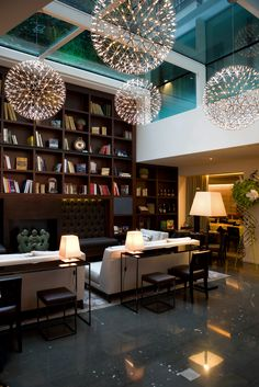 Moooi presents creative luxury for a well curated life. Light Fixtures, Hotels, New Homes, Designers, Lounge, Ceiling, Dreams, Lights, Interior Design
