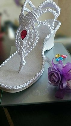 Best 12 White Wedding Sandals with crystals Bling Sandals, White Sandals, Lace Up Sandals, Crochet Shoes Pattern, Shoe Pattern, Make Your Own Shoes, Crochet Sandals, Timberlands Shoes, Wedding Shoes