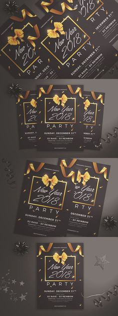 New Year Party Flyer. Flyer Templates