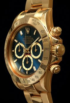 Yellow Gold Daytona with Blue Soleil Dial; Limited Edition of 10 pieces [Rolex Daytona Reference 16528]....