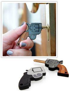 Stick 'em up!! House key.  Bem Legaus! Blog