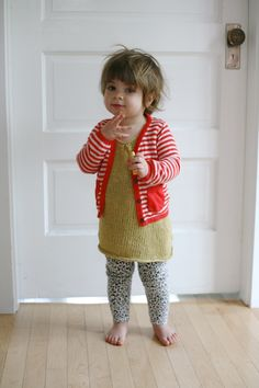 Want to make a sweater like her red sweater. Also, I love the pattern for the dress.