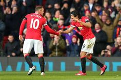 Rooney & Falcao celebrate