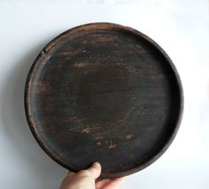 Wooden tray - Japanese antique - well used and well worn - country kitchen - WhatsForPudding #2070