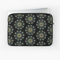 """""""Chic Green & Gold Asian Pattern"""" Laptop Sleeve by HavenDesign Green And Gold, Laptop Sleeves, I Shop, Zip Around Wallet, Asian, Chic, Pattern, Stuff To Buy, Shabby Chic"""