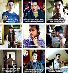 Mickey Milkovich + being annoyed with your shit
