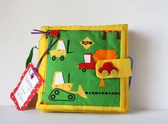 Quiet book - Transport children's activity fabric busy book. Made to order