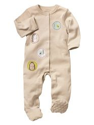 Baby Unisex Embroidered Cotton Sleepsuit