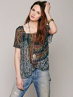Free People Drippy Square Neck Knot Pullover, $69.95