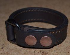 Leather Bracelet-men bracelet-handmade by sergklim on Etsy