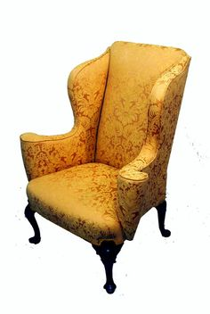 OnlineGalleries.com - Antique Mahogany Wing Armchair
