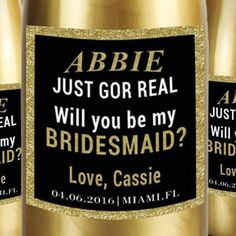 Bride Wine Labels Will You Be My Bridesmaid by LabelByLoveArts