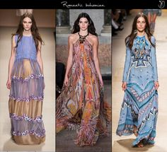 Bohemian sentiments are re imagined to carry an ultra-romantic aura in spring 2015 maxi dress trends! #fashion #bohemiandress #romanticmaxi