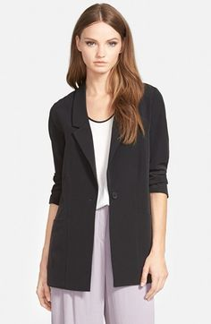 Trouvé+Long+Crepe+Blazer+available+at+#Nordstrom