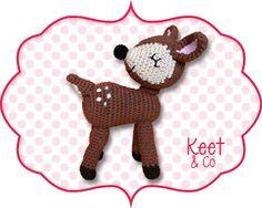 Een gratis Nederlands haakpatroon van een hert. Wil jij ook een lieve hert haken? Lees dan snel verder over het haakpatroon van de hert!