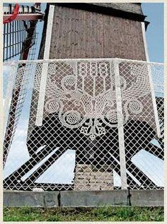 Lace Fence by Dutch design house Demakersvan