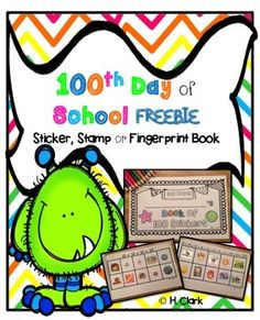 """Use this booklet as an addition to your 100th day of school fun. Great for a center rotation or table group activity.  Includes a title page for stickers, stamps, and fingerprints--you choose!  Be the first to know when I've added new products to my store & when I'm having a SALE ~ Click the green """"Follow Me"""" star to follow my TPT store."""