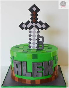 Thinking about having a Minecraft Birthday thing with my cousin! Perfect cake!