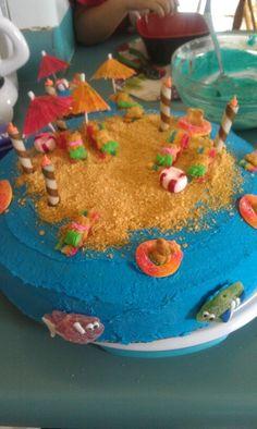 Beach Luau cake