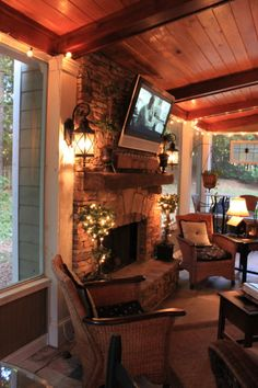 I really want a screened in porch someday...