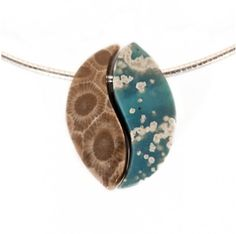 Leland Blue and Petoskey stone Unity Bead