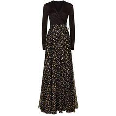 Diane von Furstenberg Aviva Long Sleeve Embroidered Wrap Dress (65.785 RUB) ❤ liked on Polyvore featuring dresses, embroidered dress, long sleeve dress, long sleeve jersey, embroidered dresses and wrap dress