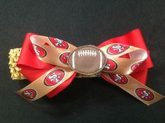 Whoo Hoo!! San Francisco 49ers Bow!! Got to have this!!! See more 3LL Bows at www.threelittleladiesbowtique.com