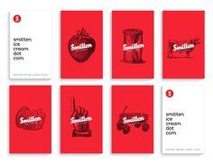 Smitten Ice Cream Rebrand by Viet Huynh, via Behance