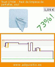 Trust 17934 - Pack de limpieza de pantallas, azul (Accesorio). Baja 73%! Precio actual 1,09 €, el precio anterior fue de 3,99 €. https://www.adquisitio.es/fabricado-marca/trust-17934-pack-dos