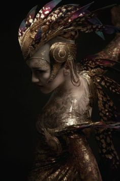 English National Ballet Beyond Ballets Russes  Ksenia Ovsyanick as the Firebird, make-up by MAC - photos Diego Indraccolo