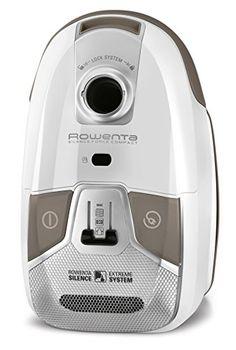 Rowenta Silence Force Compact – Aspirador, AAAA, con bolsa, triple filtración extrema, color blanco - http://vivahogar.net/oferta/rowenta-silence-force-compact-aspirador-aaaa-con-bolsa-triple-filtracion-extrema-color-blanco/ -
