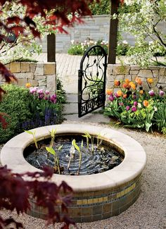 I love this circular fountain!