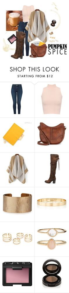 """""""Contest Entry: Pumpkin Spice Style"""" by poorbutterfly ❤ liked on Polyvore featuring J Brand, WearAll, Frye, Steve Madden, Panacea, Jules Smith, Accessorize, NARS Cosmetics, Anastasia Beverly Hills and Kenneth Cole"""