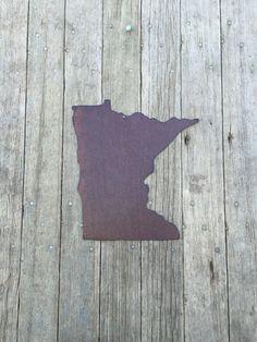 rustic tin state of Minnesota Minnesota wall by Rustaroundtheedges