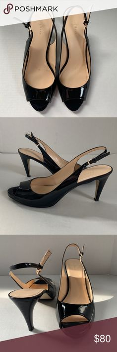 12f988edf797 Black Patent Leather Cole Hann Slingbacks size 11 You are going to love  these! This