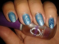 #notd #nailart #barkingblondie #bbloggers #nailstamping #naillacquer #moyra #holo #petlaplate