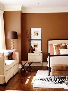 Bedroom Paint Colors, Bedroom Color Schemes, Living Room Colors, Living Room Decor, Warm Bedroom Colors, Colour Schemes, Beautiful Bedroom Designs, Beautiful Bedrooms, Beautiful Wall
