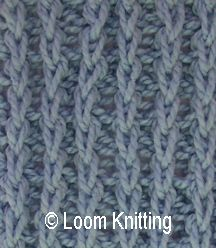 loom knitting stitches: Chunky Braid Purl stitch pattern