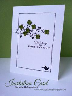 Einladungskarte - Konfirmation/Kommunion