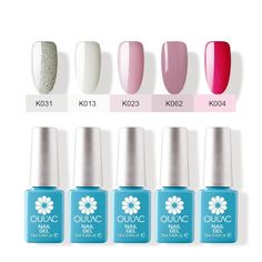 Oulac Gel Nail Polish Perfect Color UV Gel 12ml Pack of 5pcs (sliver) *** You can find more details by visiting the image link.