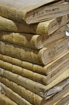 Antique Vellum books