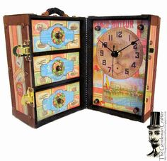 The Gentleman Crafter: New Tutorial Up: The Vintage Trunk Desk Clock