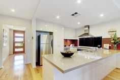 A functional kitchen design is essential to any new home.