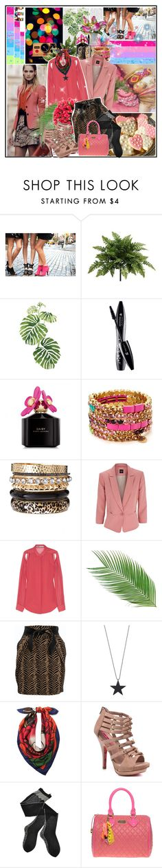 """A Flush of Pink!"" by sandymagdy ❤ liked on Polyvore featuring xO Design, DKNY, PLANT, Rainforest, Givenchy, Lancôme, Marc by Marc Jacobs, Juicy Couture, River Island and Oasis"