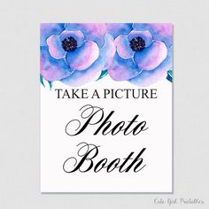 Photo Booth Sign - Floral Bridal Shower Printable Phot Sign - Printable Bridal Shower Signs Games - Photo Booth Decorations  -  0009P